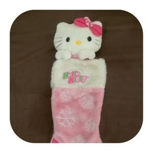 Hello Kitty-Sanrio Christmas Stocking Pink/White.